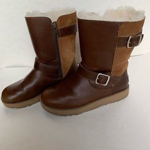 UGG Breida waterproof shearling leather boots